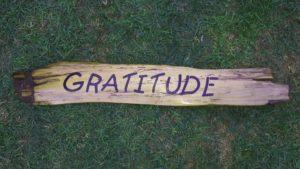 gratitude - driftwood art